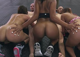 Assparade Orgy at an obstacle gym!