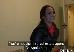 Redhead goes house with a introduce factor take fuck for assets