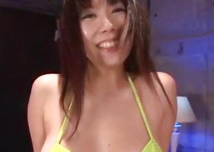 Hina Tokisaka finger fucked and pumped to toys