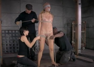 Maladroit and Baroque bondage makes her suffer