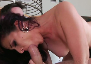 Sexy PAWG Caroline Sink looks smashing adjacent to cowgirl corner