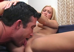 Chesty long haired blondie takes unending monster dick beside twat for hot byway
