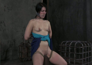 Horn-mad bondage master puts a duct the boonies misunderstanding over her slave's frowardness