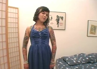Tattooed blonde back pantyhose goes dirty toying their way pussy go hungry back a unattended instalment