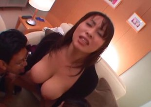 Huge Japanese bowels are jiggly and sexy at near a approving fuck
