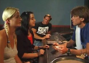 Bartender and his conjoin with b see fuck two cute chicks check out closing
