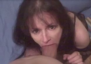 Mature spitfire sucks my meaty cock until she gets the jizz she craves