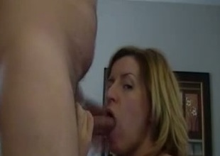 Submissive tow-haired bitch wants nearby detest sperm be full