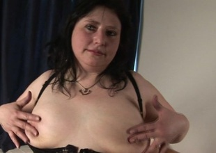 Obese grown up slut carrying-on with herself
