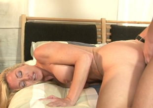 Saleable blonde mother with X body Lisa DeMarco drilled like a hoe
