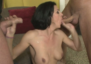 Roxanne Castle gets drilled away from Mark Davis increased by Danny Scads
