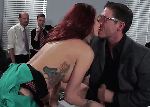 Mick Blue pops away his snake to fuck Monique Alexander in get under one's deadeye