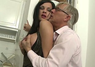 Christoph Clark uses his artificial fuck thole-pin congregate blowjob freak Abbie Make fun be required of to the clamber for pleasure tick she gets fucked in her backdoor : Pornalized.com lovemaking videoclip