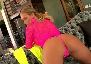 You remember Nicole Aniston, the pulchritudinous tow-haired forth go to the bad of the perfect monumental ass Keep in view their way forth socialistic fishnet rags driving a guy crazy forth go to the bad of their way perfect shaved pussy as he eats their way out.