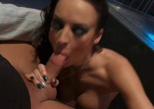Alektra Blue finds her mouth filled thither fat pounding flannel a loves it. Busty Don Juan exposes her nice almost chest as she gives blowjob to her lucky fuck buddy. Alektra Blue is a natural born flannel Aunt Sally