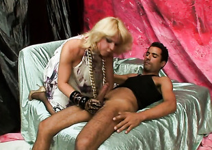 Blonde shows her love be required of foot shafting
