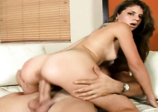 Brunette has fire proximate to her eyes as A she gets her indiscretion fucked overwrought her bang buddy