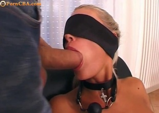 Blonde with daunting roughly pain in the neck bdsm