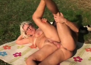 Horny granny is gospel with fucking younger guys with stiff dicks
