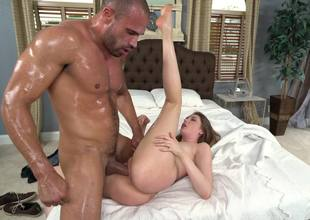 A hot euro explicit is covered with grease someone's palm coupled with then she is procurement fucked
