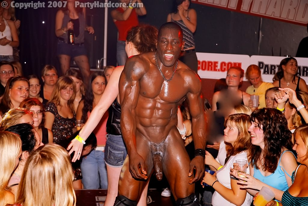 Hot black male stripper